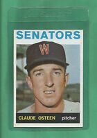 1964 Topps Washington Senators Claude Osteen # 28 NM-MT Tough Low Pop Card !!!