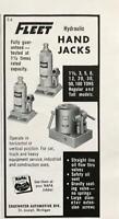 1961 Fleet Hydraulic Hand Jacks Print Ad Edgewater Auto Div St Joseph MI