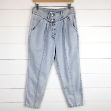 d00aa2463cac6 Forever 21 Women's 28 Jeans High Waist Rise Mom Tapered Relaxed Fit Light  Wash