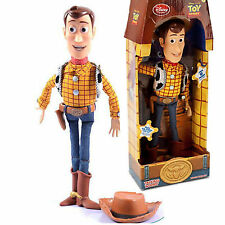 "NEW 39cm 16"" Disney Talking Woody Sheriff Doll Electronic 19 Phrases Toy Story"