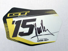 """Hans Ray signed Collectable GT Bicycle Number Plate, Size 4.5"""" x 8"""""""