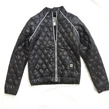 NEW G STAR RAW BLACK QUILTED NYLON BOMBER LIGHTWEIGHT JACKET S SMALL