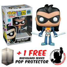 FUNKO POP TEEN TITANS GO ROBIN AS NIGHTWING WITH BABY EXCLUSIVE + POP PROTECTOR