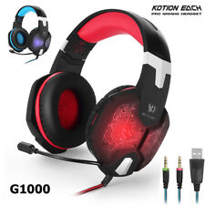 KOTION EACH G1000,3.5mm PC Stereo Gaming Headset with MIC Breathing LED Gaming