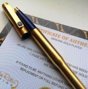 24k Gold Plated Parker 25 Rollerball Pen Flighter Writing Pen Vintage Gift 24ct