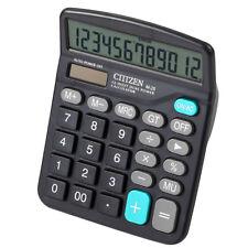 M28 solar calculator 12 bit dual power computer black