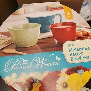 Pioneer Woman Fleur Melamine Batter Bowl Set Spring 2021