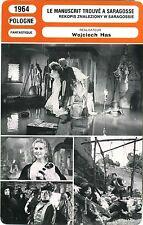 Fiche Cinéma. Movie Card. Le manuscrit trouvé à Saragosse (Pologne) 1964