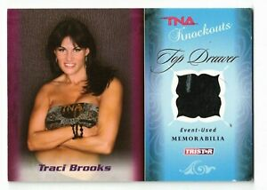 TRACI BROOKS 2009 TriStar TNA Knockouts Top Drawer Patch #TD-10 /75 Turquoise