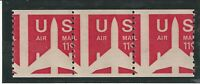 EFO Scott #C82 Strip of 3,,MINT, NH, VF Major Misperf, RARE, NICE!!!
