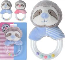 Sloth Design Baby Rattle Cute Soft Christening Baby Shower Gift