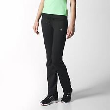 ADIDAS Womens Basic Stretch Gym Pants Trousers Black Size Large
