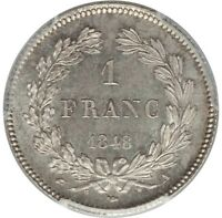 FRANCE 1 FRANC LOUIS PHILIPPE I 1948 A - PCGS MS 65 -