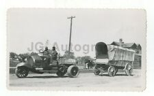 Circus Photography - Antique Tryke & Wagon - Vintage Glossy Snapshot Photograph