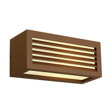 Intalite exterior IP44 BOX-L E27 wall light, square, rust, E27, max. 18W, IP44