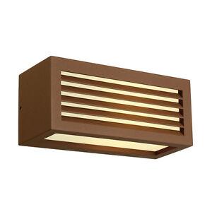 Intalite exterior IP44 BOX-L E27 wall light, square, rust, E27, max. 18W, IP44