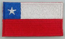 Chile Flag Patch Embroidered Iron On Applique Chilean