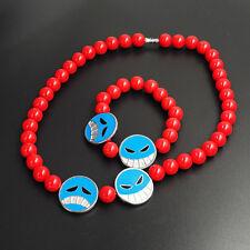 Anime One Piece Ace Figure Pendant Necklace & Bracelet Cosplay Jewelry Gift 2PCS