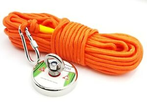FISHING MAGNET KIT UPTO 1100 LBS Pull Force Neodymium With Rope And Carabiner
