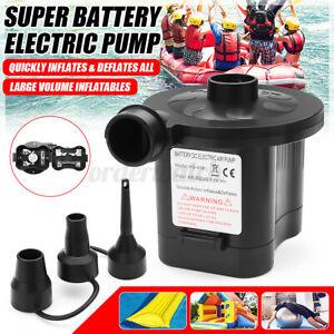 Electric Air Pump Paddling Pool Fast Inflator Deflator Camp Air Bed Mattress