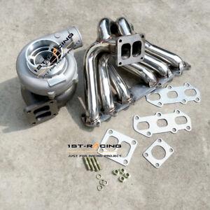 GT45 Com A/R 0.70 Turbo+ Exhaust Manifold For Toyota Supra 2.5L JZA70 1JZ-GTE