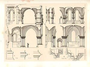 1858 LARGE ARCHITECTURE PRINT MAGDEBOURG CATHEDRAL MEDIEVAL GOTHIC ART MEDIAEVAL
