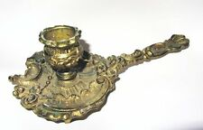 BOUGEOIR RAS DE CAVE EN BRONZE DORE DECOR ROCOCO FRENCH CANDLESTICK