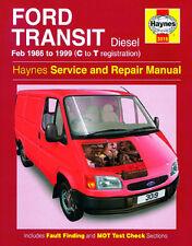 Haynes Manual 3019 Ford Transit Feb 1986 to 1999 H3019