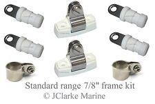 "7/8"" Standard range boat canopy frame kit sprayhood binimi cover end cap clamps"
