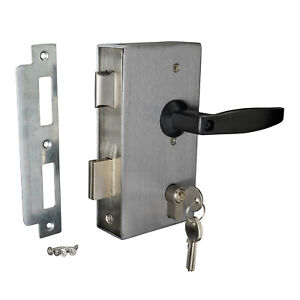 Weld In Gate Lock Double Throw Sashlock To Suit 40x40mm Box Section Free Handles