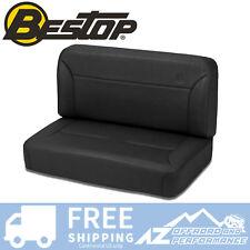 Bestop TrailMax 2 Fixed Rear Bench 55-95 Jeep CJ5 CJ7 Wrangler Black Denim Vinyl