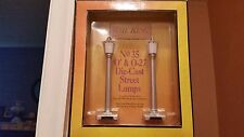"""MTH Rail King # 35 Aluminum 2-Gas Light Lamp Post Set, 6 1/4"""" Tall, #30-1098-NIB"""