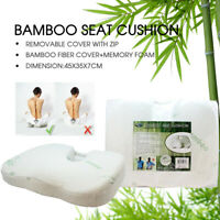 Bamboo Memory foam Car Seat Pillow Cushion Posture Back Hip Support Lumbar AU