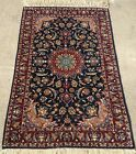 """AN AWESOME  BLUE BACKGROUND COLOR FLORAL RUG3'8"""" X 2'4"""""""