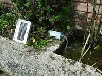 Solar Powered Garden Pond Oxygenator Water Pump Oxygen Aerator Outdoor Air Pump