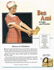 1920s BIG Original Vintage Bon Ami Cleaning Powder Maid Art Print Ad