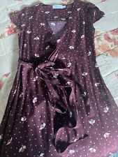 & Other Stories 4 Purple Floral Short Sleeve Wrap Dress