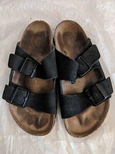 Birkenstock Women's Arizona Soft Footbed Size 37 in Black Suede