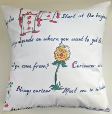 "Cushion Cover in Cath Kidston Alice in Wonderland 16"" Rabbit Queen Mad Hatter"