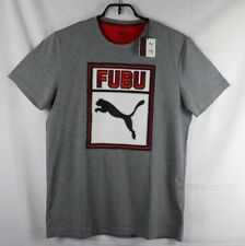 Puma FUBU Tee Shirt 05 Boxed In Gray Red White New Mens Size Large