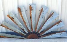 """60"""" Rustic Texas Half Windmill Head Fan Western Ranch Barn Farmhouse Yard Decor"""