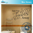 Wall Stickers Removable Soak Your Troubles Away Bathroom Decal Picture Art Decor