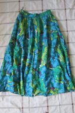 jupe vintage multi couleurs - bleu -vert, taille 36-38