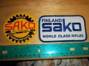 VINTAGE SAKO OF FINLAND PATCHES Rifles Ammo Firearms guns shooting hunting patch