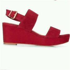 + Jones Boot Maker Billie wedge sandals Shoes Red suede  sizes 4-7 :64