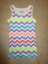 Sleeveless Shirt - Girls' - So - Cami/Tank - White/Colorful Stripes - Sz 12