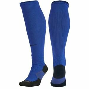 NIKE Elite Vapor 2.0 OTC Cushioned Football Socks Blue NEW Youth Mens S Shoe 3-5