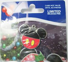 Disney 2013 GWP $75 Holiday Gift Card Mickey Mouse Ornament Pin Zero on Card