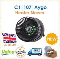 For Citroen C1 Peugeot 107 Toyota Ago Valeo Interior Heater Blower New