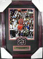Michael Jordan Chicago Bulls NBA Basketball,48 cm Wandbild echter Holz Rahmen